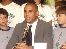 Ronaldo at a 2005 press conference. Image: Agencia Brasil