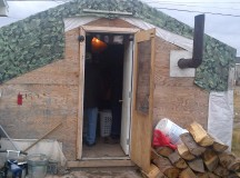 Six people live in this shed in Attawapiskat.
