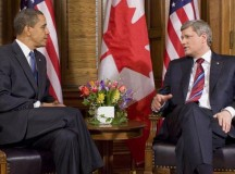 Barack Obama and Stephen Harper meeting, February 19, 2009: Image Pete Souza (White House)