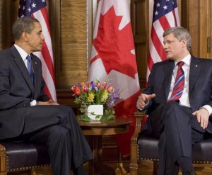 Barack Obama and Stephen Harper