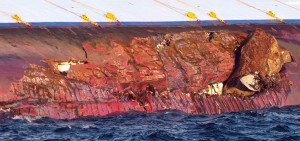Collision of Costa Concordia, rock impact