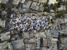 A poor neighbourhood shows the damage after an earthquake measuring 7 plus on the Richter scale rocked Port au Prince Haiti just before 5 pm, January 12, 2010.