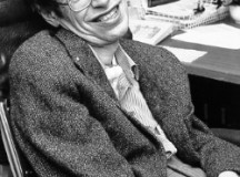 This photo was taken of Stephen Hawking in the 1980s. Image: NASA