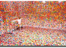 Obliteration Room; art by Yayoi Kusama, Image used with permission from Stuart Addelsee