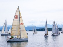 Photograph of several sailboats on the ocean (the West's sailboat is not shown here). Image: Arsenikk
