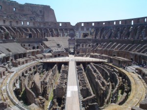 Inside the Colosseum. Image:  Bjarki Sigursveinsson