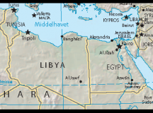 Map of Libya in relation to Egypt in 2007. Image: orlovic