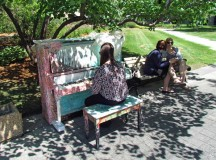 "The ""Ecuador"" piano in the courtyard near Queen's Park circle in Toronto. Image by TKN photographer Greg Robinson."