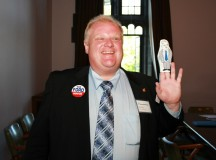 Rob Ford when running for mayor in 2012. Image: Shaun Merritt