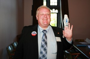 Rob Ford when running for mayor in 2012