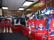 The Montreal Canadiens dressing room has been empty during the lockout. Image: Aude.