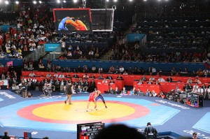 Wrestling at the 2012 Summer Olympics. Image: Ben Fitzgerald-O'Connor