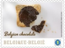 Belgium's chocolate-flavoured stamp.