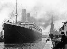 The original Titanic at the docs of Southampton in 1912.