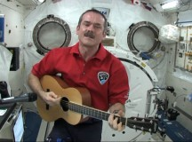 Chris Hadfield singing his song, ISS on Music Monday, along with hundreds of thousands of schoolchildren.