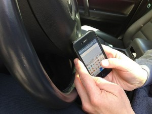 Texting while driving. Image: Intel Free Press