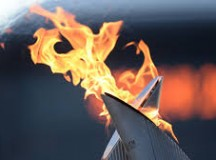 The Olympic torch isn't handed from person to person along the relay--the flame is passed from torch to torch. Image: Olympic.ca