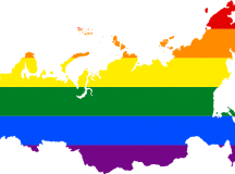 The LGBT flag map of Russia. Image: derivative work: Fry1989