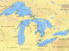 A map od the Great Lakes. Image: brian0918