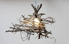 The chandelier that was created out of the Maple Tree Forever Project. Image: BROTHERS DRESSLER