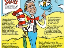 Cartoon about Dr. Seuss. Image: CCBYSA