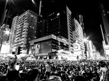 Thousands of protestors block streets in Hong Kong during the Umbrella Revolution. Image: Umbrella Revolution-Hong Kong.