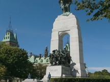 View of the National War Memorial in Confederation Square, Ottawa. Image: John A. Brebner