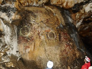 An example of cave art from Crimea. Image:  Konstantin Malanchev