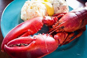 Lobster dinner. Image: Benson Kua