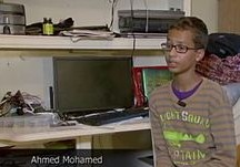 Still from a video of Ahmed Mohamed. Image: Wikipedia.