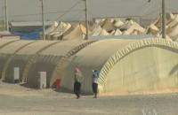 Syrian refugee centre at Turkish border. Image: Voice of America News: Henry Ridgwell