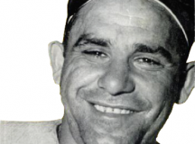 Yogi Berra, 1956. Image: Baseball Digest, front cover, September issue.
