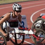 Michelle Stilwell competing in the 100m at the IPC Athletics World Championships in 2013.