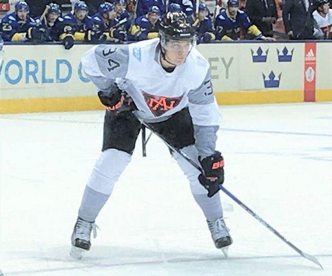 Auston Matthews at the World Cup of Hockey in 2016. Image: Paperfire