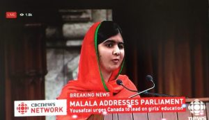 Malala Yousafzai Becomes Honourary Canadian