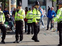 A group of police in Manchester, UK