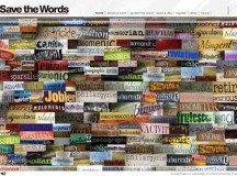 Oxford's Save the Words website image