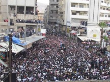 Protest in Syria; image: http://en.wikipedia.org/wiki/File:Syria_Damascus_Douma_Protests_2011_-_22.jpg