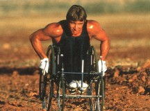 Rick Hansen in Australia during the original Man In Motion Tour, 1986