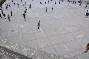 Jack Layton chalk condolences at City Hall; Image: Greg Robinson