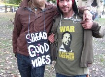 Nigel (left) and Shane at the OccupyToronto protest; Image: Joyce Grant