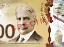 Canadian polymer $100 note; Image: With permission from the Bank of Canada