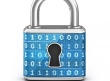 Image of a padlock with cyber numbers on it