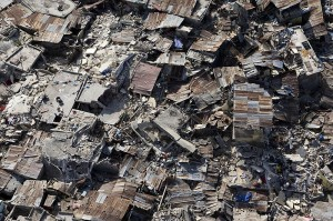Impact of earthquake in Haiti from above. Image: UN Photo/Logan Abassi