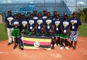 A Uganda Little League Baseball team.