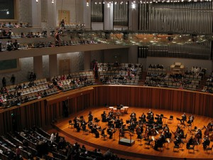 The New York Philharmonic playing in Beijing
