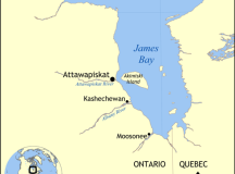 Map of Attawapiskat