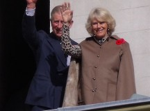 Prince Charles and Camilla during a royal visit at the Dundurn Castle, 2009