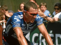 Lance Armstrong at the Grand Prix Midi Libre, 2002. Image: de:Benutzer:Hase