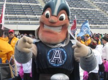 Jason is the mascot of the Toronto Argonauts; Image by Joyce Grant.